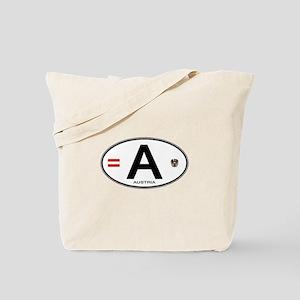 Austria Euro Oval Tote Bag