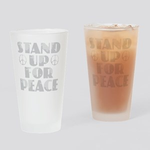 Stand Up for Peace Drinking Glass
