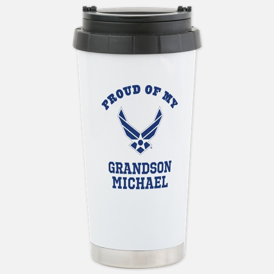 Air Force Grandson Personalized Travel Mug