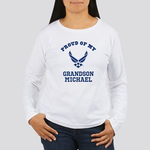 Air Force Grandson Personalized Long Sleeve T-Shir