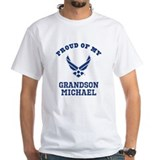 Air force family Mens Classic White T-Shirts