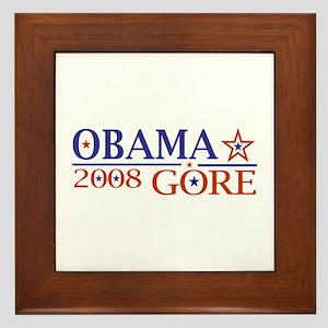 Obama Gore 2008 Framed Tile