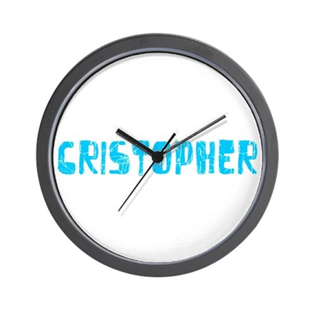 Cristopher Faded (Blue) Wall Clock