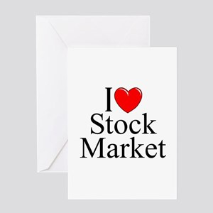 """""""I Love (Heart) Stock Market"""" Greeting Card"""