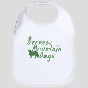 Pastel Green Bernese Mountain Dog Bib