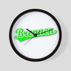 Retro Brennen (Green) Wall Clock