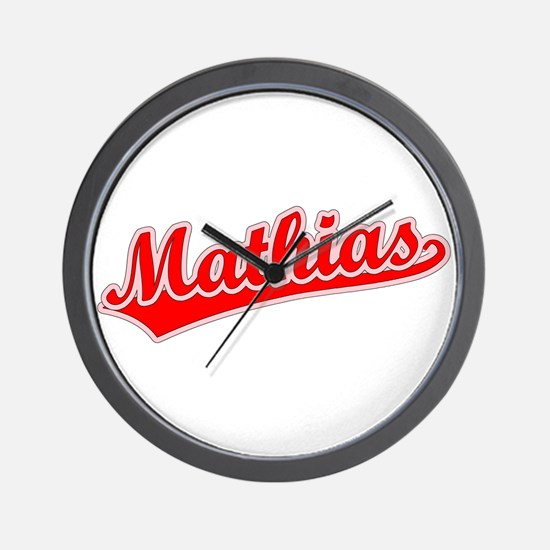Retro Mathias (Red) Wall Clock