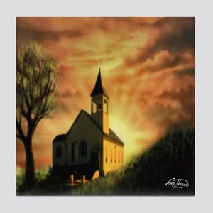 Chapel at sunrise Tile Coaster