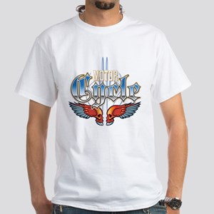 Motor Cycle Heads White T-Shirt