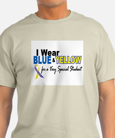 I Wear Blue & Yellow....2 (Special Student) T-Shirt