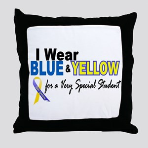 I Wear Blue & Yellow....2 (Special Student) Throw
