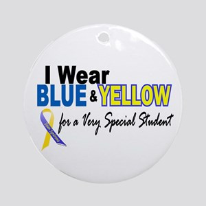 I Wear Blue & Yellow....2 (Special Student) Orname