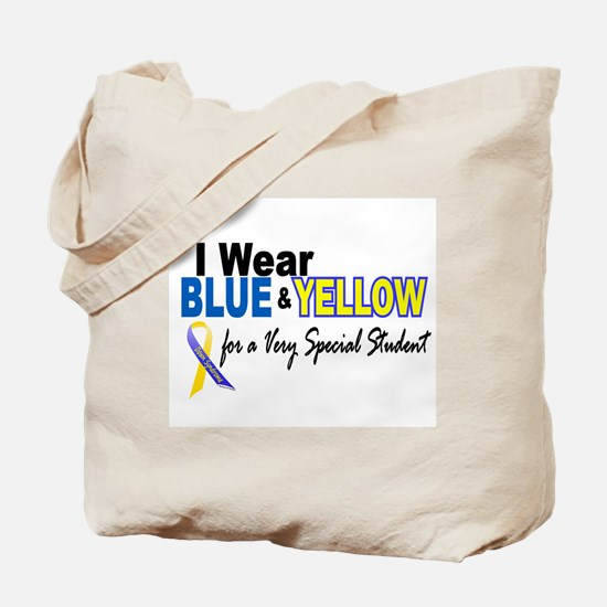 I Wear Blue & Yellow....2 (Special Student) Tote B