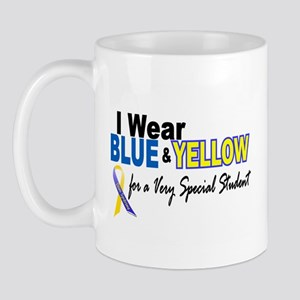 I Wear Blue & Yellow....2 (Special Student) Mug