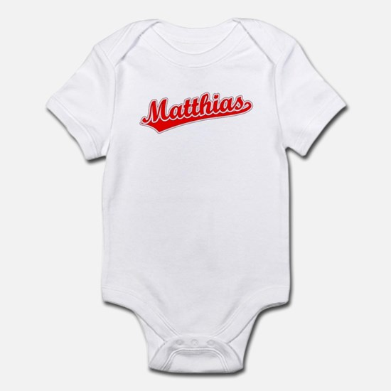 Retro Matthias (Red) Infant Bodysuit