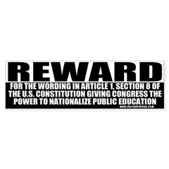Conservative Reward Bumper Bumper Sticker