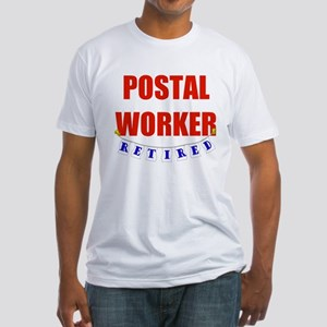 Retired Postal Worker Fitted T-Shirt