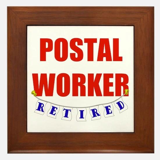Retired Postal Worker Framed Tile