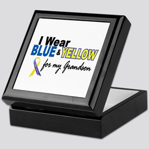 I Wear Blue & Yellow....2 (Grandson) Keepsake Box