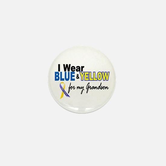 I Wear Blue & Yellow....2 (Grandson) Mini Button