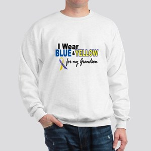 I Wear Blue & Yellow....2 (Grandson) Sweatshirt