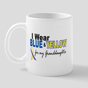 I Wear Blue & Yellow....2 (Granddaughter) Mug