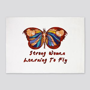 Strong Woman Learning To Fly 5'x7'Area Rug