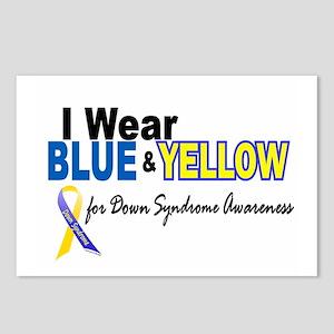 I Wear Blue & Yellow....2 (Awareness) Postcards (P