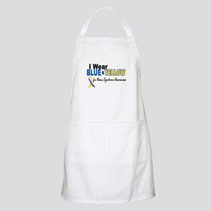 I Wear Blue & Yellow....2 (Awareness) BBQ Apron