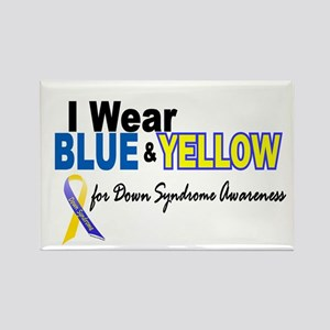 I Wear Blue & Yellow....2 (Awareness) Rectangle Ma