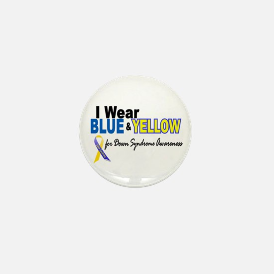 I Wear Blue & Yellow....2 (Awareness) Mini Button