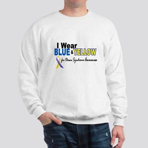 I Wear Blue & Yellow....2 (Awareness) Sweatshirt