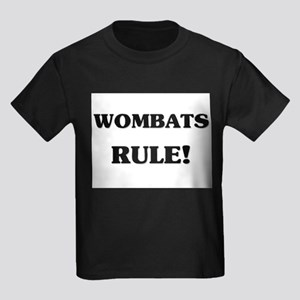Wombats Rule Kids Dark T-Shirt