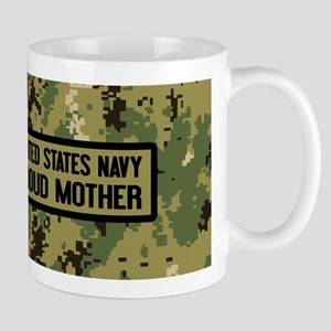 U.S. Navy: Proud Mother (Camo) 11 oz Ceramic Mug