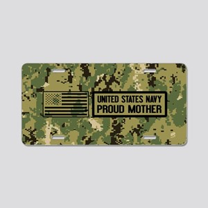 U.S. Navy: Proud Mother (Ca Aluminum License Plate