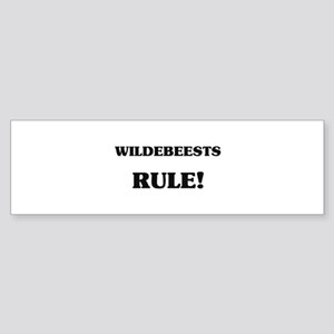 Wildebeests Rule Bumper Sticker