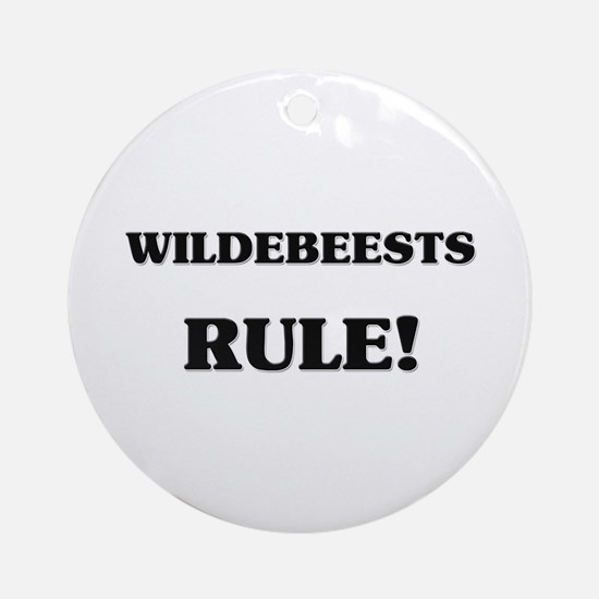 Wildebeests Rule Ornament (Round)