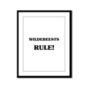 Wildebeests Rule Framed Panel Print