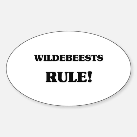 Wildebeests Rule Oval Decal