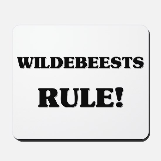 Wildebeests Rule Mousepad