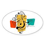 Smokey Joe Oval Sticker