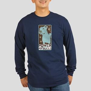 Pit Power Long Sleeve Dark T-Shirt
