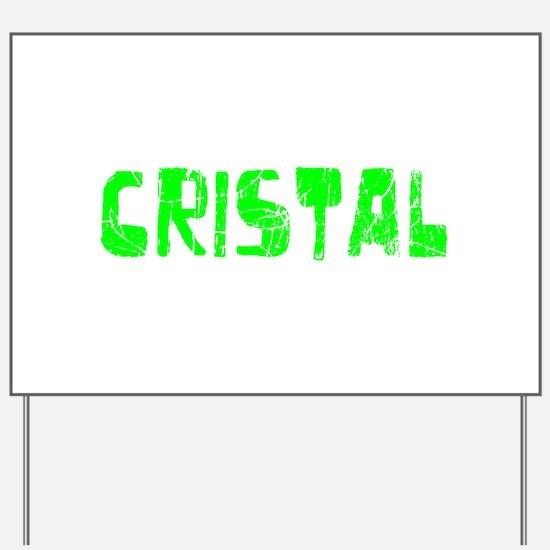 Cristal Faded (Green) Yard Sign