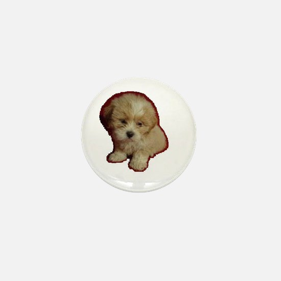 Cute Llasa poodle Mini Button