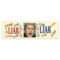 Bush Is A Liar Bumper Bumper Sticker