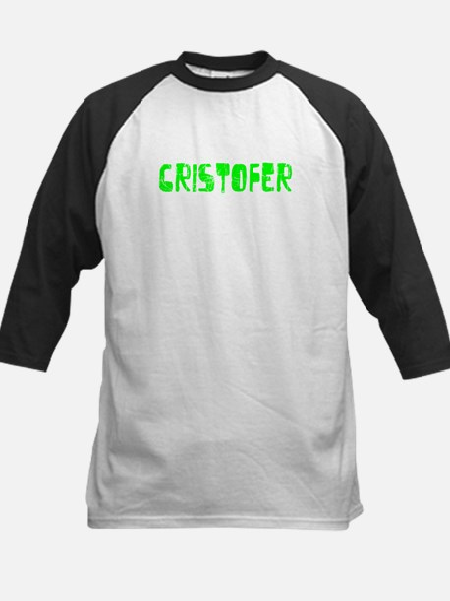 Cristofer Faded (Green) Kids Baseball Jersey