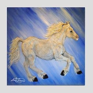 Blue thunder horse Tile Coaster