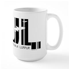Kuala Lumpur Malaysia KUL Air Wear Large Mug