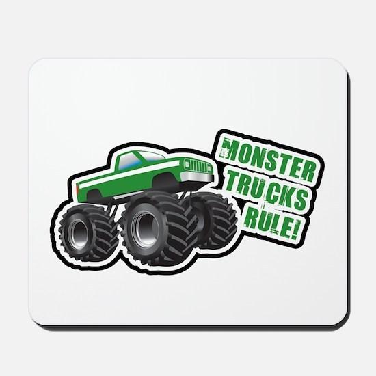 Green Monster Truck Mousepad