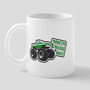 Green Monster Truck Mug